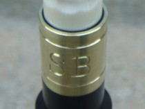 Brass Ferrule. Exact wood to metal fit and engraved quality stamping are a trademark of my work.